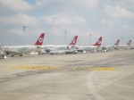 Turkish Airlines planes at Istanbul