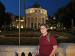Me in front of the Romanian Athenaeum concert hall